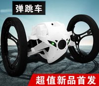 Wholesale Jumping Sumo with G CH Bounce Cool Car rotation RC Remote Control Car Jumping Sumo Robot with LED light new products