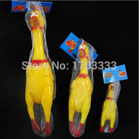 Wholesale Middle CM Puppies Toy Chicken Shrilling Screaming Rubber Dog Funny Toy