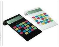 Wholesale Factory direct creative minimalist color button calculator solar calculator Acrylic