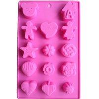 animal shaped cake pans - Karen Baking Love Animal Shape Muffin Sweet Candy Jelly Fondant Cake Chocolate Mold Silicone Tool Baking Pan DIY B030