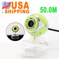 Wholesale US STOCK US Stock To USA CA New USB M HD Webcam Camera Clip Web Cam With Mic for Desktop PC Laptop Computer UPS Free Ship