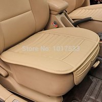 leather seat cover - Car Seat Covers Spring Summer Premium Car Seat Cushion Bamboo Charcoal Leather Monolithic Seat Cushion
