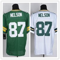 Wholesale Cheap Packers Jordy Nelson Jersey Authentic Elite American Football Jerseys Embroidery Logo Mix Order