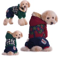 Wholesale Hi pat winter new pet clothes Thickening pet clothes legs of preppy style clothes