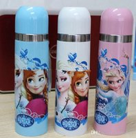 Wholesale 2015 Children ML cup FROZEN insulation glass elsa anna Office thermos outlets sale