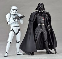 Wholesale New Styles CM Star Wars Revoltech Darth Vader Stormtrooper Boxed PVC Action Figures Collectible Model Toys