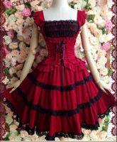 ballerina wear - Palace Lolita Dress Barbie Dress Strap Dress Short Sleeves Slim Ballerina Party Dress