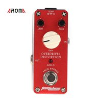 aroma house - Mini Overdrive Distortion Electric Guitar Effect Pedal Aluminum Alloy Housing True Bypass Design Guitar Pedal Aroma AOD I726