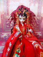 ancient chinese toys - inch Handmade Chinese Girl Dolls Boutique Vintage Dolls Ancient Bride Dolls For Collection Girl Toys Gift