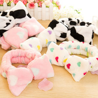 Wholesale cute adorable sell fresh Japanese headband bow hair cosmetic towel wash hair