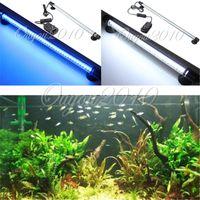 Wholesale Aquarium Fish Tank LED Light Blue White CM Bar Submersible Waterproof Lamp order lt no track