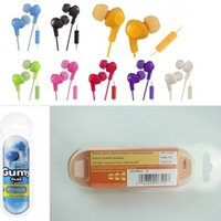 Wholesale Gumy Gummy Earphone Earbuds mm Headphone HA FR6 Gumy Plus with MIC For Iphone Plus s s c Ipad Samsung