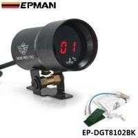 Wholesale Epman JDM Universal mm Micro Digital Gauge Auto Red Led Water Temperature Gauges Car Vehicle Meter Black Color EP DGT8102BK