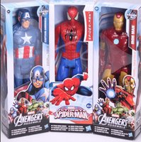 Wholesale Free DHL Super hero Avengers Spiderman Green Goblin PVC Action Figure Collectible Toy Captain America wolverine action figure inch Z643