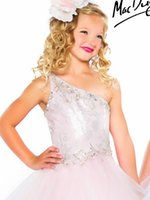 beauty accents - Sell like hot cakes Charming a shoulder beaded accent layer skirt girl beauty pageant dress