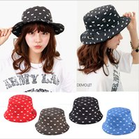 Wholesale New Design Unisex Bucket Hats for Women and Men Casual Cotton Flat Fisherman Hat Print Outdoor Sunshade Cap
