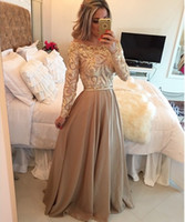 fashion club wear - Long Sleeves Evening Gowns Off Shoulder A line Sequin Beaded Formal Evening Dresses Women Prom Long Chiffon Floor Length Party Dresses