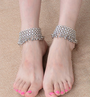 adjustable anklet bells - Korean style silver plated bell bead foot chain fashion anklet for women jewelry adjustable