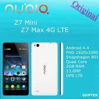 Wholesale Original New ZTE Nubia Z7 mini z7 max G LTE Mobile Phone Qualcomm Snapdragon MSM8974AC Quad Core GHz GB GB MP