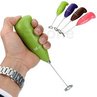 Wholesale On Sale PC Electric Handle Coffee Milk Egg Beater Whisk Frother Mixer Foamer New Arrive