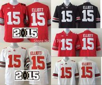 american unisex names - Factory Outlet NCAA Ohio State Buckeyes Jerseys Ezekiel Elliott jersey Red White American College Football Jerseys Embroidery name nu