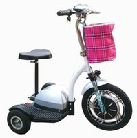 Wholesale Hot selling foldable Wheels Electric Tricycle scooter Mobility Bike Bicycle Motorcycle brushless motor Green personal transporter