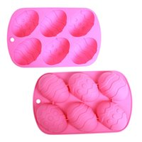 Wholesale Multi colors Eco friendly Food Grade Silicone Easter Egg Cake Baking Mould Chocolate Mould Easter Egg Baking Plate