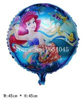 Wholesale inch balao Mermaid balloons princess mylar baloon ariel little mermaid foil ballon decoration helio para globos
