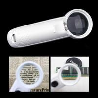 Gafas Lupa microscopio 15X de múltiples funciones de los vidrios de la lupa de la lámpara de herramienta lupa portátil de mano lupa con la luz 2 LED