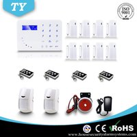 Wholesale New Touch Keypad Wireless Home Security Burglar GSM Alarm System with Auto dialer DHL Good Gift