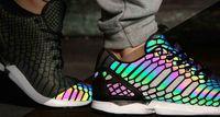Wholesale 2016 new Reflective chameleon shoes sports shoes casual Glow Shoes for Tidal wave of men women Fluorescent Shoes luminous shoes C361