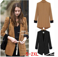 Wholesale Europe style new spring fashon slim waist long sleeve Jacket Women Suit Blazer color all match female plus size s xl