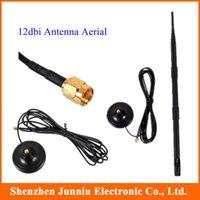 achat en gros de antennes wifi magnétiques-Noir 12 dBi WiFi magnétique 2.4GHz antenne SMA gros-Nouvelle Livraison gratuite