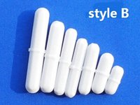 Wholesale 10pcs mm PTFE Teflon magnetic stirrer mixer stir bar B Style for High quality Lab Supplies