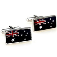 australian flag cufflinks - Australian flag Men s Cufflinks Cufflinks MTS