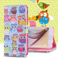 artistic tiger - S6 Artistic Tiger Owl Dream Bird Pattern Colorful Leather Case For Samsung Galaxy S6 G920 Flip Stand Wallet Romantic Phone Cover