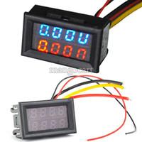 Wholesale High Quality Red Blue LED DC V A Dual display Meter Digital Voltmeter Ammeter Panel Amp Volt Gauge TK1211