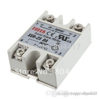 Wholesale Promotion New Solid State Relay A SSR input V DC output V AC Single Phase for Temperature Controller A5
