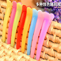 Wholesale A jelly candy color hairclip duckbill clip alligator clip hair clip cm colored translucent plastic hairpin