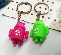 android keychains - Wedding Keychains Android D keychain pendant car keychain love keychain Card Package Keychain Favors for hot sale