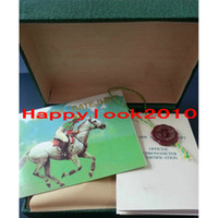 book box - Hot sales Original Brand Watch Boxes Green Leather Tag Book Luxury Watch Box Display Storage Jewelry Gift Box