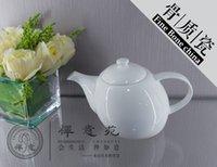 al por mayor té de la flor del melocotón-Peach Cafetera Fina porcelana china del pote del té Tetera de vidrio, utensilios Hacer flor de vidrio de café de la tetera para el hogar fuentes del hotel juegos de té