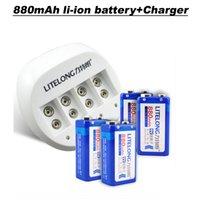battery mah rating - 4 pieces LITELONG Li lon mah v battery rated voltage V smart slot charger