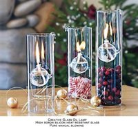 Wholesale Combination of B Creative transparent glass cylinder hook lamp marriage instead of a candle