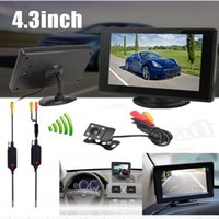 tv transmitter and receiver - 4 Inch Color TFT Car Monitor TV Lines Night Vision Rear View Camera Video Transmitter and Receiver Kit CMO_51K