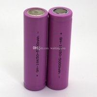 Wholesale DHL free Rechargeable Li ion Battery Flat Top mAh purple color for mechanical mods rechargable li ion battery goodbiz
