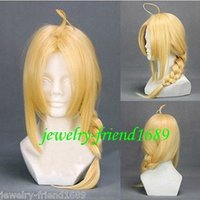 average gram - gt gt New wig Cosplay Full metal alchemist Edward YiErLi Grams Golden Long Wig