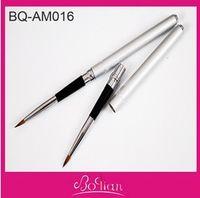 arts artistes - Silvery handle Kolinsky Nail Art Brush Acrylic d Nail Art Brush Popular Artiste Nail Brush