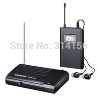 Wholesale 2sets Takstar wpm wpm Wireless Monitor System In Ear Stereo UHF Wireless Headset Transmitter Receiver Stage monitor
