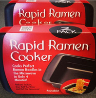 Cheap Wholesale-2 Pack New Rapid Ramen Cooker Bowls Microwavable Noodles Microwave Red & Black